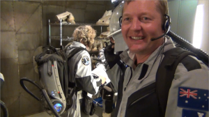 April 2012: I have just finished a simulated walk on Mars at the Victorian Space Science Education Centre.