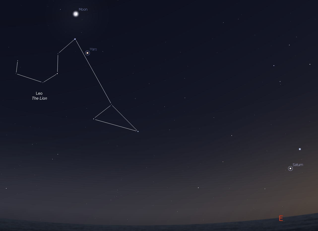 Early riser? First Quarter Moon joins Mars and Saturn in the morning ...