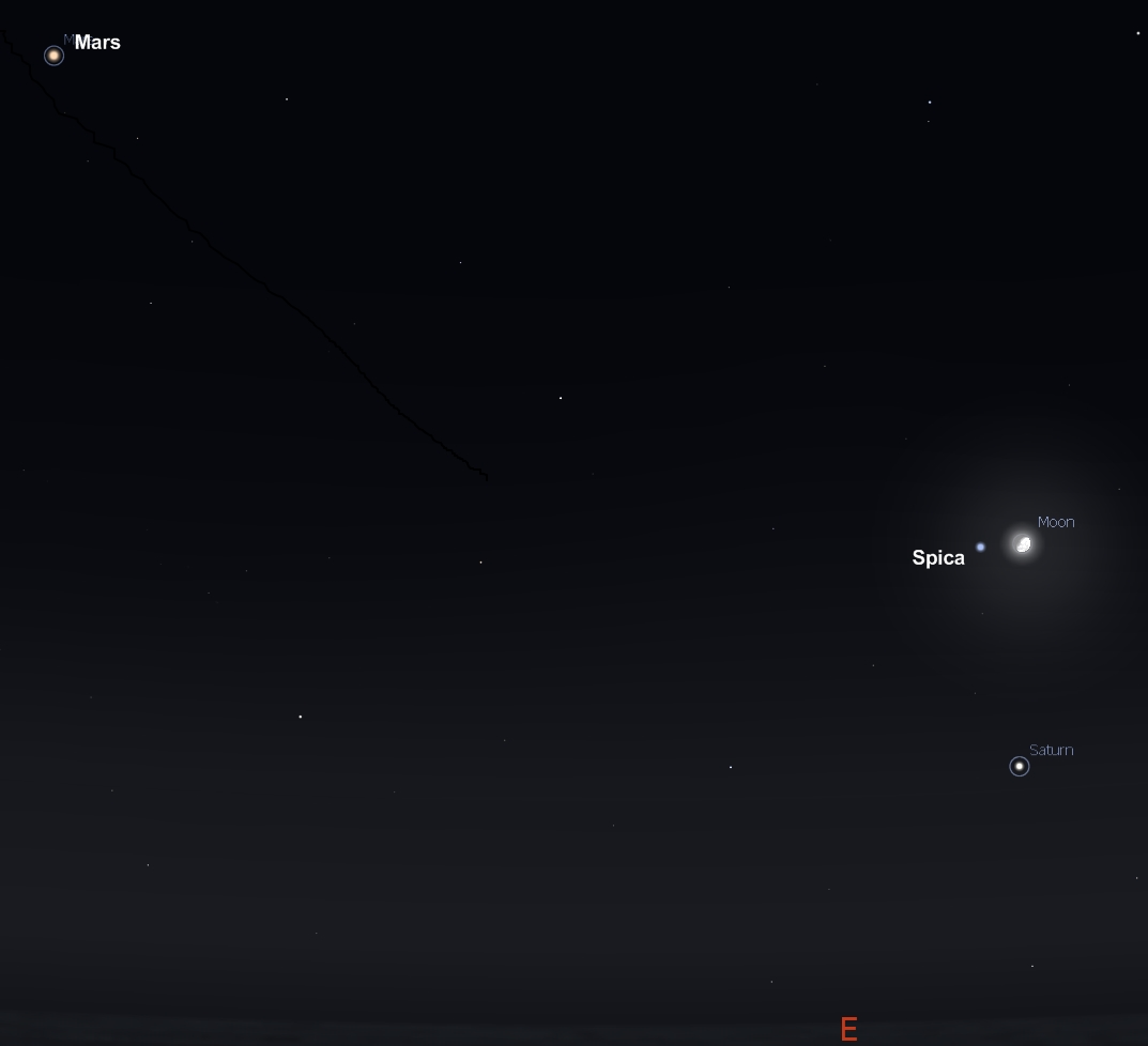 planet saturn location in sky - photo #7