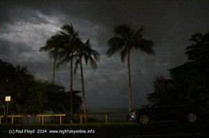 Moonlit cloud above Holloways Beach, Far North Queensland. (c) Paul Floyd 2014