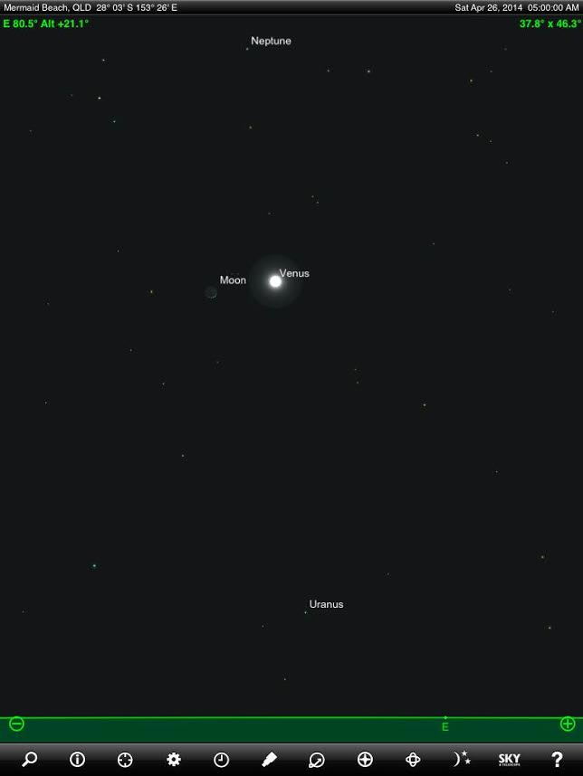 Photo opportunity! Photograph Venus and Moon together as ...