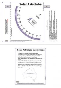Solar astrolabe. Download the Adobe Acrobat version via the below link.
