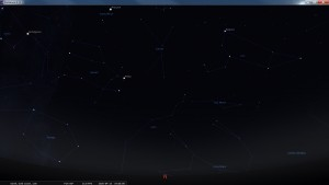 Looking North at 7 pm AEST. Produced for an observer based on the Gold Coast, Queensland, Australia using the freeware astronomy program Stellarium. The chart will also be useful for an observer based elsewhere on the East Coast of Australia.