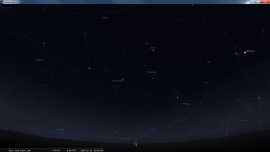 Looking North at 8:45 pm AEST. Produced for an observer based on the Gold Coast, Queensland, Australia using the freeware astronomy program Stellarium. The chart will also be useful for an observer based elsewhere on the East Coast of Australia.