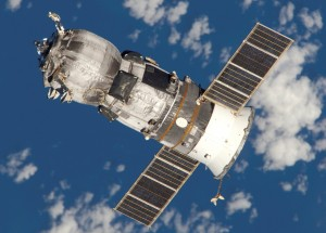 The unmanned Progress M-52 (ISS-17P) spacecraft photographed by the crew of Expedition 11 following its undocking from the International Space Station at 15:16 CDT on 15 June 2005. The spacecraft had previously delivered supplies to the space station before being filled with rubbish and disconnected from the orbital complex, in preparation for its destruction on reentry into the Earth's atmosphere. Image credit NASA.