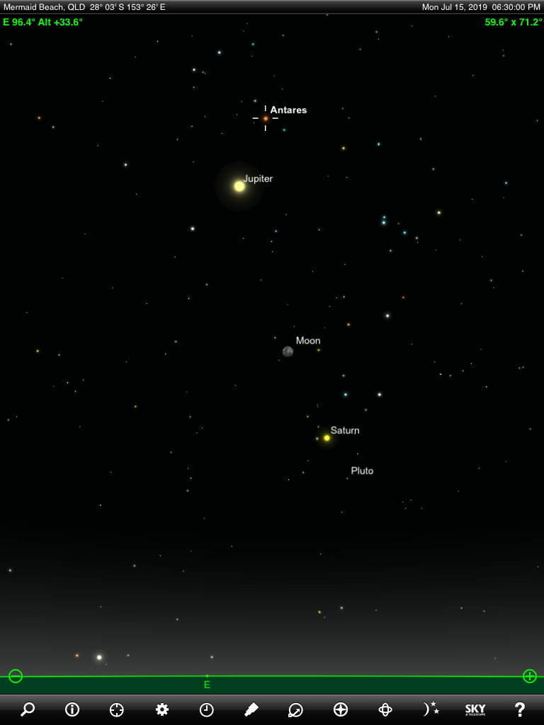 July 2019 – Where to look for the planets : Nightskyonline ...