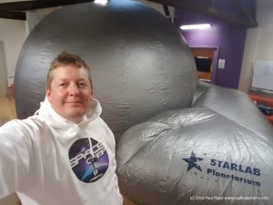 Paul Floyd and planetarium ready to present planetarium sessions at the first (2016) Canberra Space Camp.